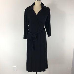 Chico's Travelers Black Faux Wrap Dress Sz. XL